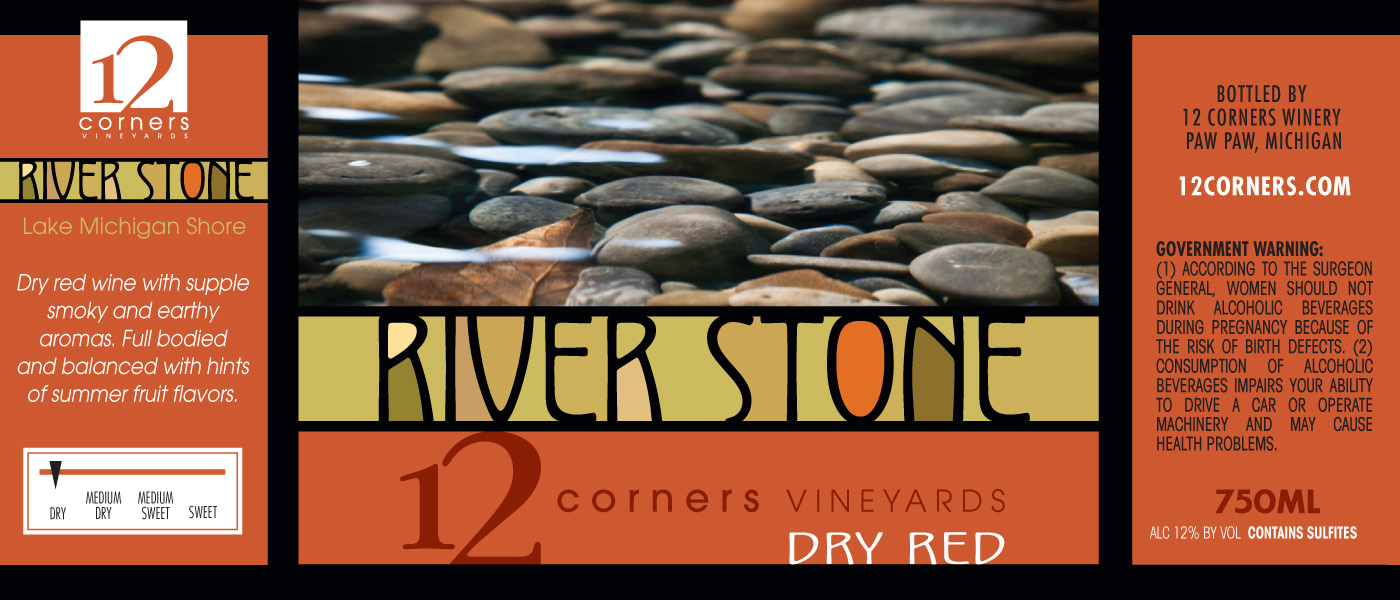 12 Corners River Stone Red