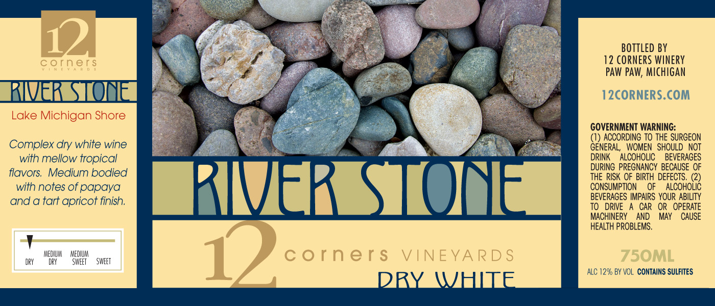 12 Corners River Stone White