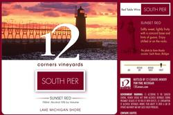 South Pier Sunset Red